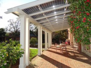 solar garden pergola